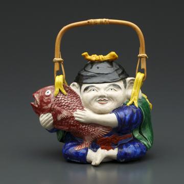 展覧作品画像-色絵恵比寿形土瓶