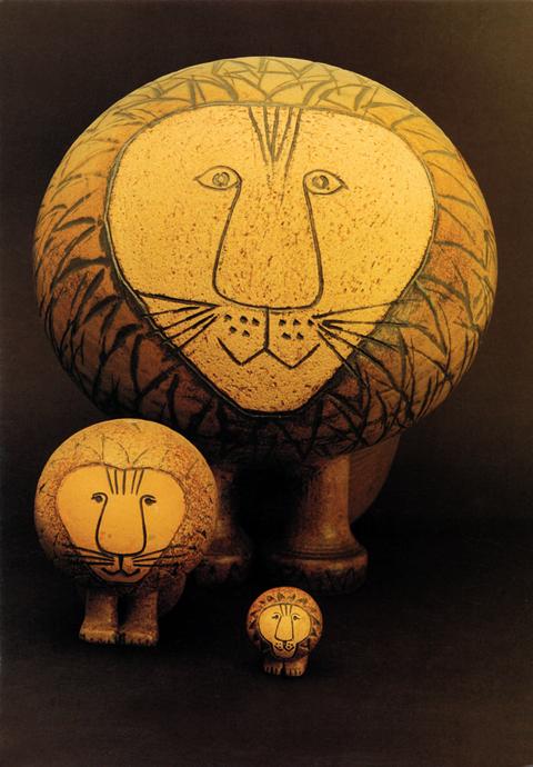 展覧作品画像-Lions, Afrika 1964, courtesy Gustavsbergs Fabriker