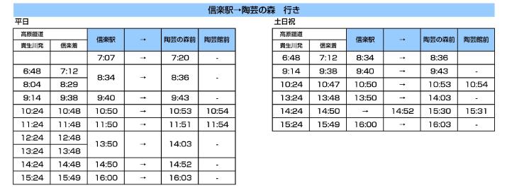 信楽駅→陶芸の森行き