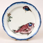 ≪ルソー≫シリーズ 鶏に花図皿