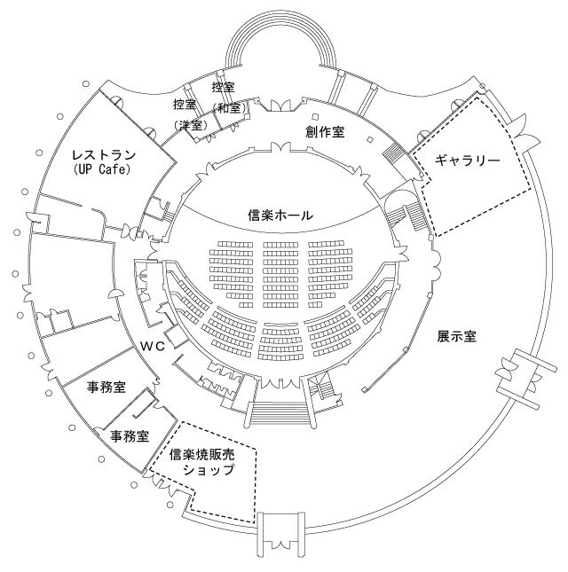 信楽産業展示館内マップ